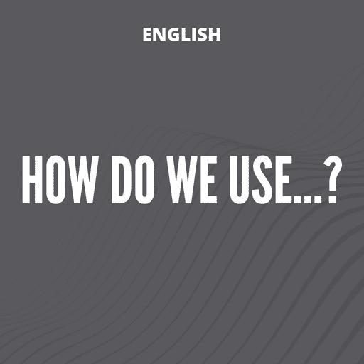 Como se usa?