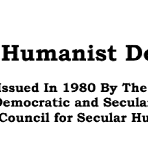 A Secular Humanist Declaration1980 - The Council for Democratic and Secular Humanism